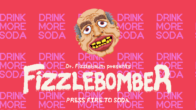 A screenshot of Fizzlebomber displaying the title screen.